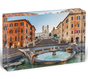Spanish Steps at morning Acrylic Block - Canvas Art Rocks - 1
