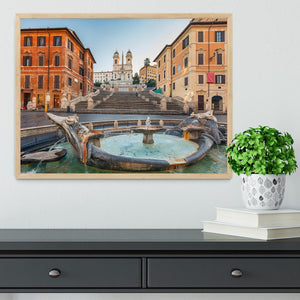 Spanish Steps at morning Framed Print - Canvas Art Rocks - 4