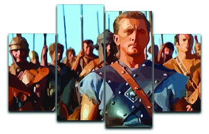 Spartacus 4 Split Panel Canvas  - Canvas Art Rocks - 1