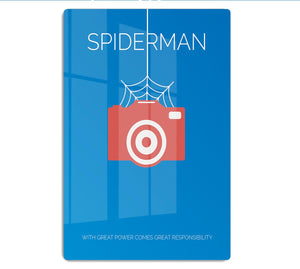 Spiderman Minimal Movie HD Metal Print