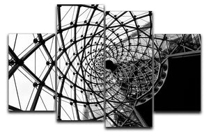 Spiral Architecture Structure 4 Split Panel Canvas - Canvas Art Rocks - 1