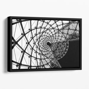 Spiral Architecture Structure Floating Framed Canvas - Canvas Art Rocks - 1