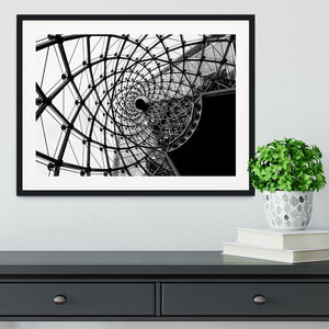 Spiral Architecture Structure Framed Print - Canvas Art Rocks - 1
