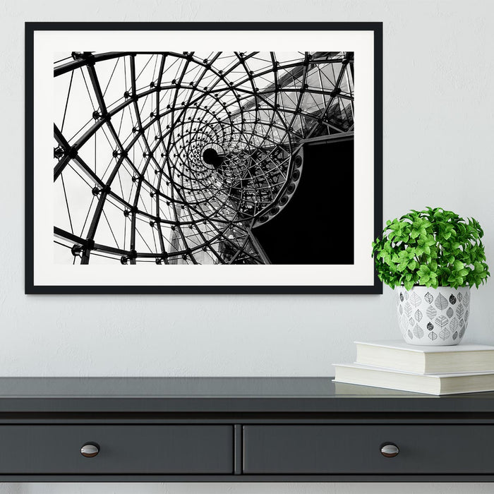 Spiral Architecture Structure Framed Print