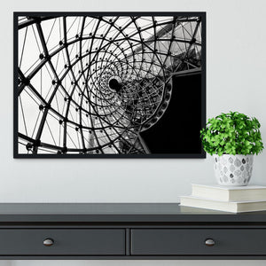 Spiral Architecture Structure Framed Print - Canvas Art Rocks - 2