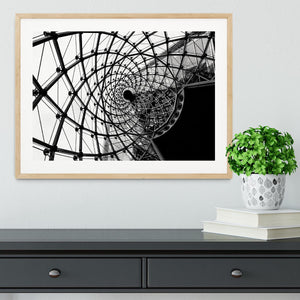 Spiral Architecture Structure Framed Print - Canvas Art Rocks - 3