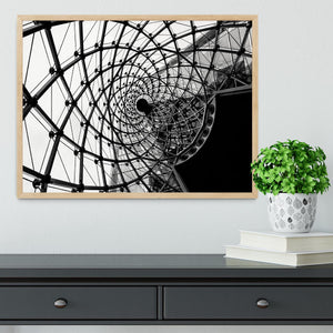 Spiral Architecture Structure Framed Print - Canvas Art Rocks - 4