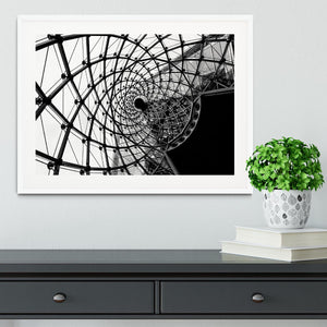 Spiral Architecture Structure Framed Print - Canvas Art Rocks - 5