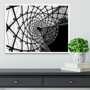 Spiral Architecture Structure Framed Print - Canvas Art Rocks -6