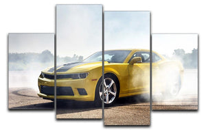 Sport Car Drifting 4 Split Panel Canvas  - Canvas Art Rocks - 1