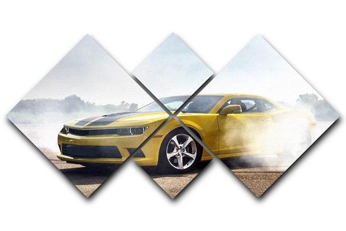Sport Car Drifting 4 Square Multi Panel Canvas