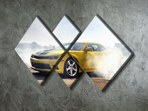 Sport Car Drifting 4 Square Multi Panel Canvas  - Canvas Art Rocks - 2