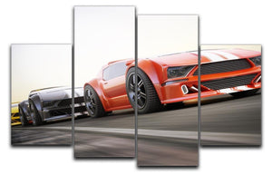 Sport Cars Racing 4 Split Panel Canvas  - Canvas Art Rocks - 1