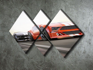 Sport Cars Racing 4 Square Multi Panel Canvas  - Canvas Art Rocks - 2
