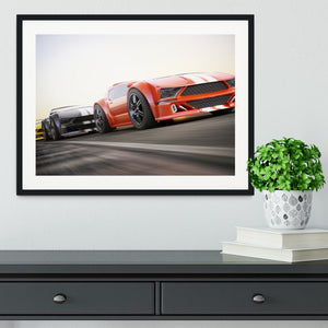Sport Cars Racing Framed Print - Canvas Art Rocks - 1