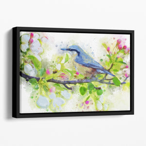 Spring Bird Floating Framed Canvas