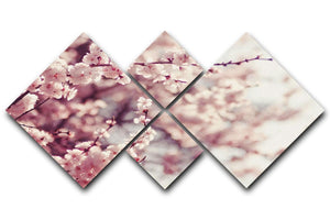 Spring Cherry blossoms 4 Square Multi Panel Canvas  - Canvas Art Rocks - 1
