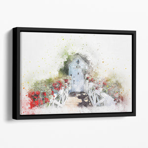 Spring Door Floating Framed Canvas