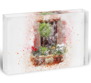 Spring Window Acrylic Block - Canvas Art Rocks - 1