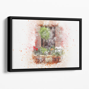 Spring Window Floating Framed Canvas
