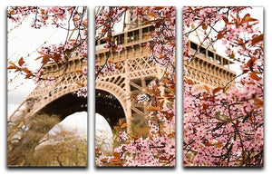 Spring in Paris 3 Split Panel Canvas Print - Canvas Art Rocks - 1