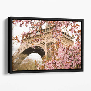 Spring in Paris Floating Framed Canvas