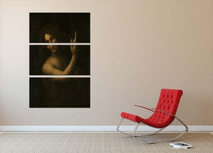 St. John the Baptist by Da Vinci 3 Split Panel Canvas Print - Canvas Art Rocks - 2