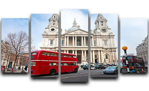St Paul Cathedral 5 Split Panel Canvas  - Canvas Art Rocks - 1