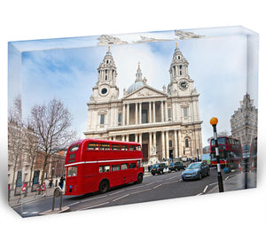 St Paul Cathedral Acrylic Block - Canvas Art Rocks - 1