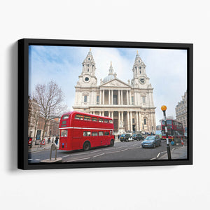 St Paul Cathedral Floating Framed Canvas