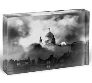 St Pauls Survives Acrylic Block - Canvas Art Rocks - 1