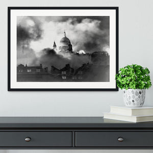 St Pauls Survives Framed Print - Canvas Art Rocks - 1