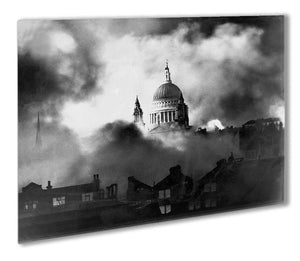 St Pauls Survives Outdoor Metal Print - Canvas Art Rocks - 1