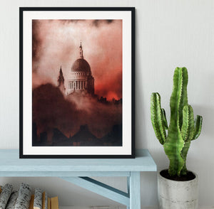 St Pauls Survives in colour Framed Print - Canvas Art Rocks - 1