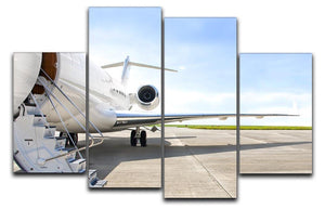 Stairs with Jet Engine 4 Split Panel Canvas  - Canvas Art Rocks - 1