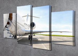 Stairs with Jet Engine 4 Split Panel Canvas  - Canvas Art Rocks - 2