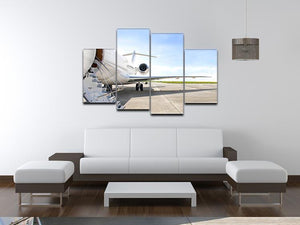Stairs with Jet Engine 4 Split Panel Canvas  - Canvas Art Rocks - 3