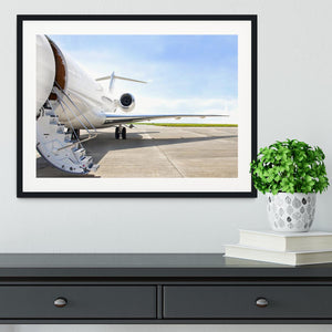 Stairs with Jet Engine Framed Print - Canvas Art Rocks - 1