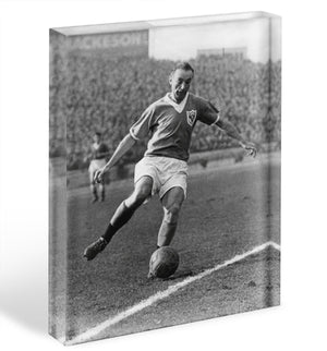 Stanley Matthews playing football Acrylic Block - Canvas Art Rocks - 1