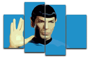 Star Trek Mr Spock 4 Split Panel Canvas  - Canvas Art Rocks - 1