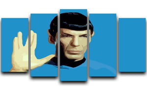 Star Trek Mr Spock 5 Split Panel Canvas  - Canvas Art Rocks - 1