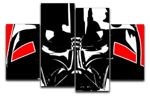 Star Wars Inspired Darth Vader Redback 4 Split Panel Canvas  - Canvas Art Rocks - 1