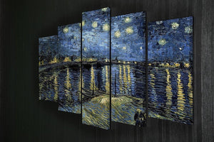 Starry Night over the Rhone 5 Split Panel Canvas - Canvas Art Rocks - 2