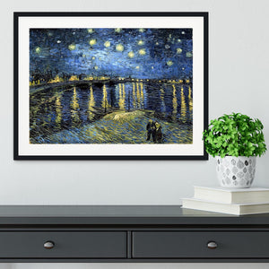Starry Night over the Rhone Framed Print - Canvas Art Rocks - 1