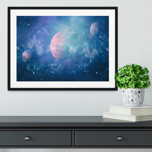 Stary Planet Space Framed Print - Canvas Art Rocks - 1