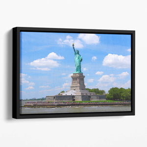 Statue of Liberty Floating Framed Canvas