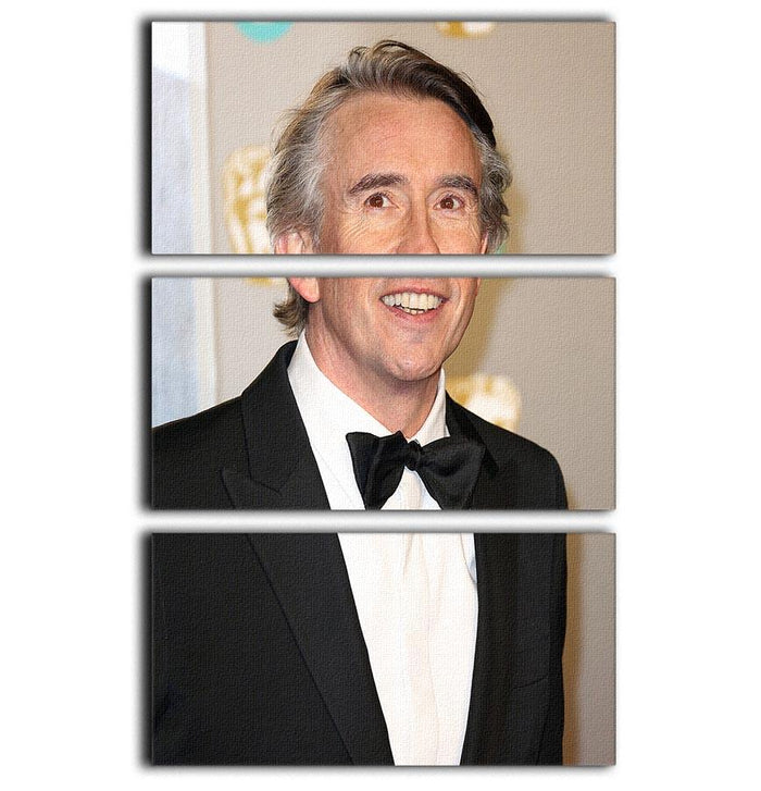 Steve Coogan at the BAFTAs 3 Split Panel Canvas Print