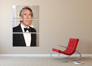 Steve Coogan at the BAFTAs 3 Split Panel Canvas Print - Canvas Art Rocks - 2
