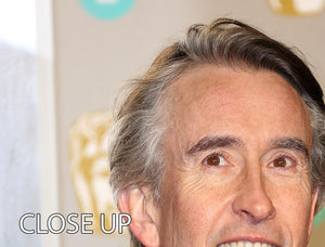 Steve Coogan at the BAFTAs 3 Split Panel Canvas Print - Canvas Art Rocks - 3