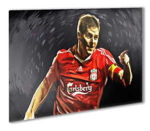 Steven Gerrard Liverpool Legend Metal Print - Canvas Art Rocks - 1